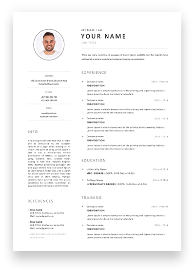 Best Minimal Resumes 2020 - spovv.com